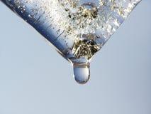 Smeltend transparant ijs stock foto's