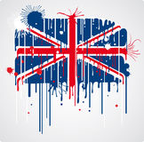 Smeltende Britse vlag Royalty-vrije Stock Foto