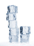 Smeltende gestemde ijsblokjes Royalty-vrije Stock Foto's
