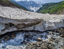 Smeltende gletsjer Stock Afbeeldingen