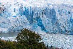 Smeltende Gletsjer in Argentinië royalty-vrije stock fotografie