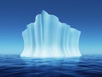 Smeltende ijsberg royalty-vrije illustratie