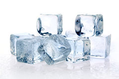 Smeltende ijsblokjes Royalty-vrije Stock Foto's