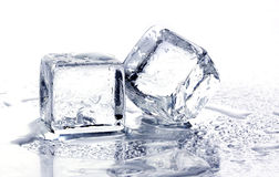 Smeltende ijsblokjes Stock Foto