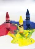 Smeltende kleurpotloden stock fotografie