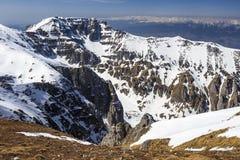 Smeltende sneeuw in de bergen Stock Afbeeldingen