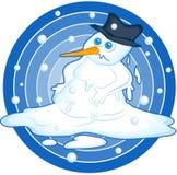 Smeltende Sneeuwman Stock Foto