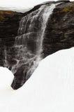 Smeltende sneeuwwaterval Royalty-vrije Stock Afbeelding