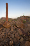 Smelter Ruins at Sunset Royalty Free Stock Photography
