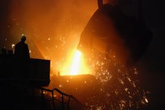 smelting Arkivbilder