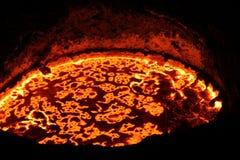 Smelting do ferro nas fornalhas imagem de stock
