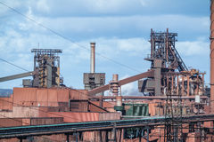 Smelting furnace in Duisburg, Germany Stock Image