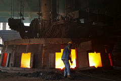 Smelting industry Royalty Free Stock Photo