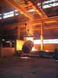 Smelting industry. Factory hall. Retapping of molten metal Royalty Free Stock Photography