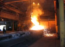 Smelting industry Stock Image