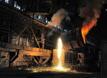 Smelting of the metal Royalty Free Stock Images