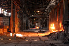 Smelting of the metal Stock Photography