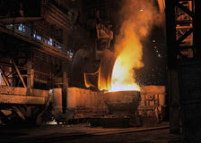 Smelting of the metal Royalty Free Stock Image