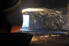 Smelting of the metal Royalty Free Stock Photo