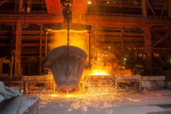 Smelting metal Royalty Free Stock Photo