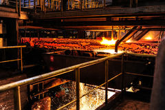 Smelting plant Royalty Free Stock Photo