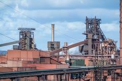 Smeltoven in Duisburg, Duitsland Stock Afbeelding