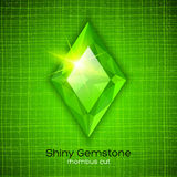 Smeraldo brillante su fondo strutturato Fotografia Stock Libera da Diritti