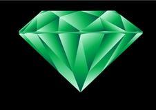 Smeraldo del taglio del diamante Fotografie Stock Libere da Diritti