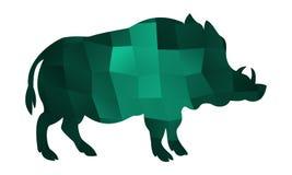 Smeraldo di vettore del verro illustrazione di stock