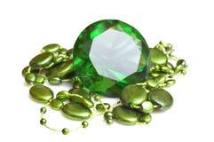 Smeraldo e beeds Immagini Stock