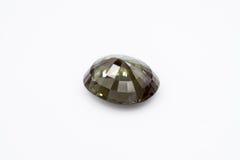 Smeraldo su fondo bianco, smeraldo verde, gemme verdi, gemma, Gre Immagine Stock Libera da Diritti