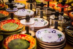 Smerigliatrice ceramica dell'aglio fotografia stock libera da diritti