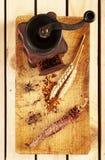 Smerigliatrice d'annata per le spezie Fotografie Stock