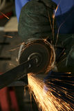 Smerigliatrice del metallo Fotografia Stock