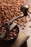 Smerigliatrice di caffè fotografie stock libere da diritti