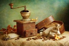 Smerigliatrice di caffè antica Fotografia Stock Libera da Diritti