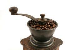 Smerigliatrice di caffè di legno Fotografie Stock Libere da Diritti
