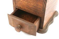 Smerigliatrice di caffè di legno Fotografia Stock Libera da Diritti