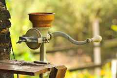 Smerigliatrice di caffè manuale Fotografia Stock
