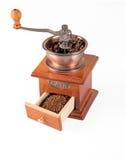 Smerigliatrice di caffè sopra bianco Immagine Stock Libera da Diritti