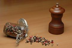 Smerigliatrice di pepe Fotografie Stock