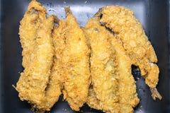 Smet stekt fisk i ägg Royaltyfria Bilder