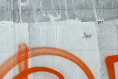 Smetad vit målarfärg Fotografering för Bildbyråer