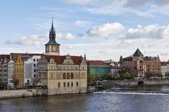 Smetana堤防,布拉格 免版税库存图片
