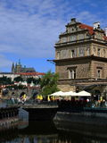 Smetana Museum and Prague Castle (Hradcany) Stock Image