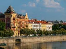 Smetana's Riverbank in Prague Stock Photos