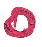 Smetat ROSA läppstiftabstrakt begrepp Shape på vit bakgrund Royaltyfri Fotografi
