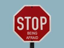 Smetta di essere impaurito Fotografia Stock Libera da Diritti