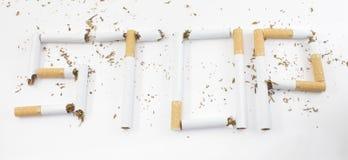 Smetta di fumare Fotografie Stock Libere da Diritti