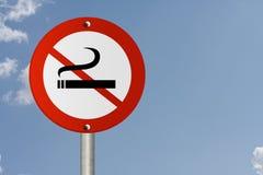 Smetta di fumare il segno Fotografie Stock Libere da Diritti